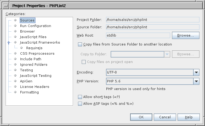Using PHPLint with NetBeans